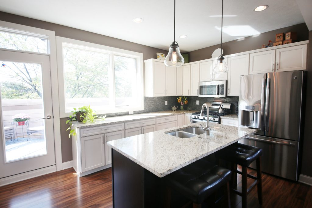 KItchen with granite countertop