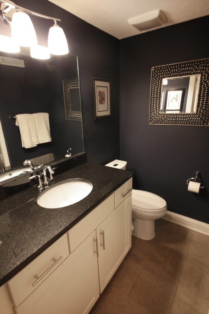 Bathroom with bathroom granite countertop