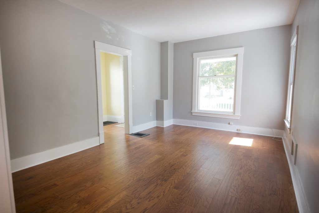 Room with wood flooring