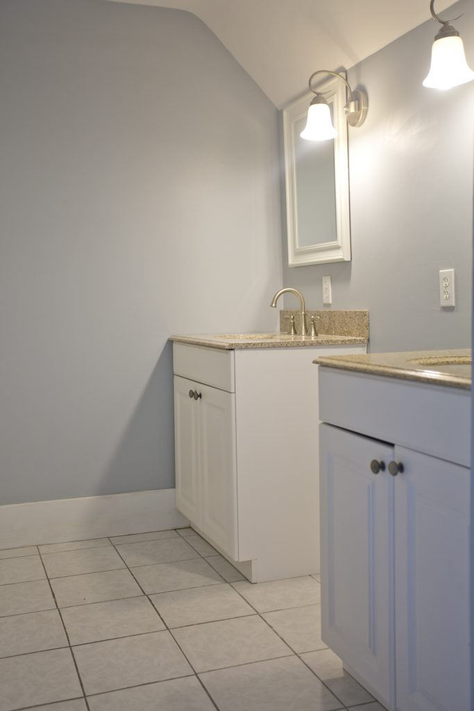 Two bathroom granite countertops
