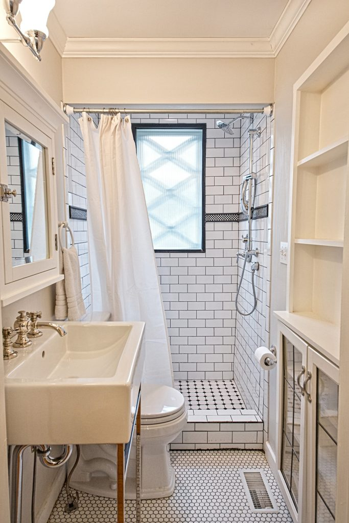Nice shower area