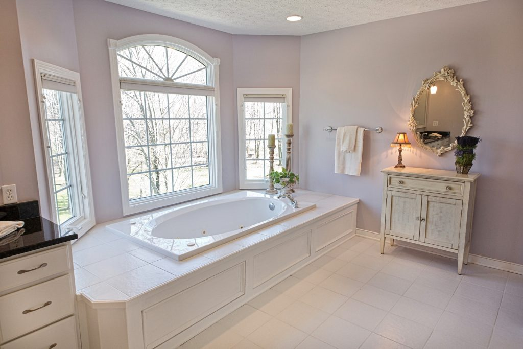 Bathroom with white window