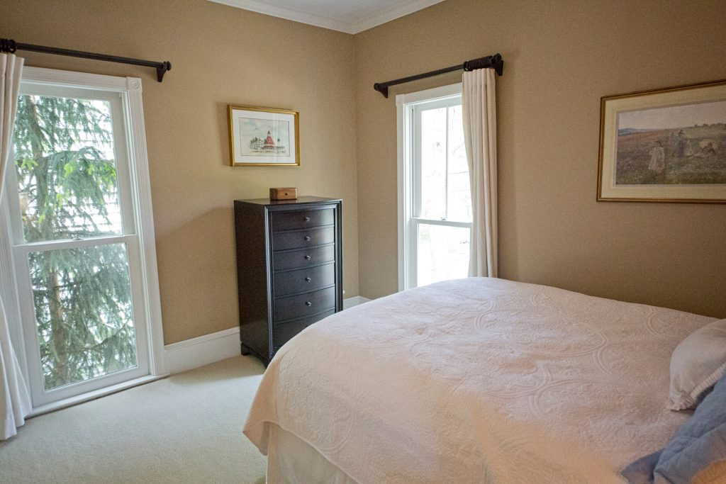 Bedroom with cabinet