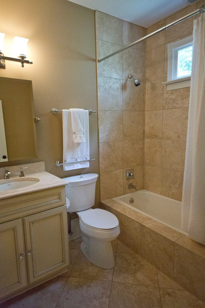 Bathroom with shower area