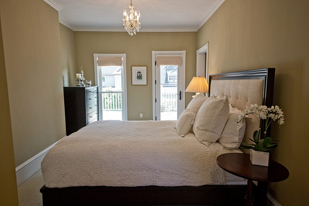 Bedroom with bedside table
