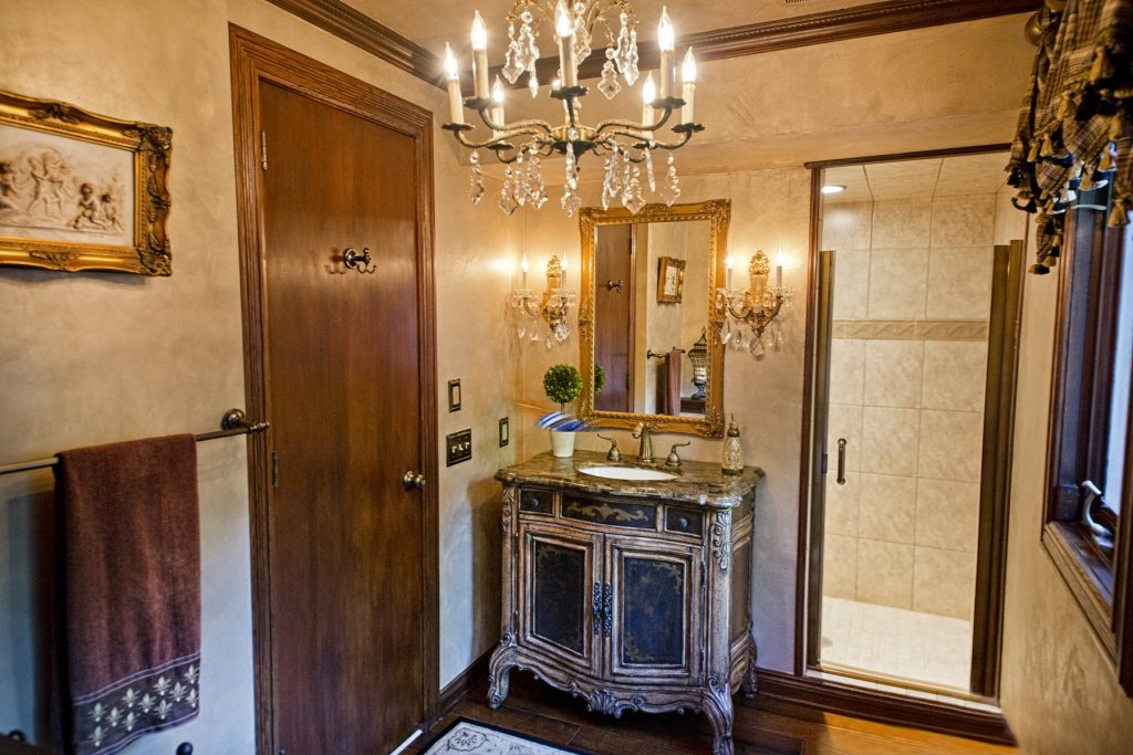 Bathroom with elegant vanity sink