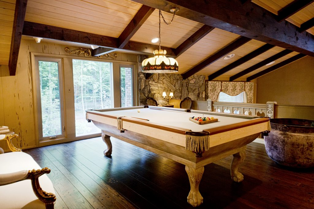 Elegant billiard room