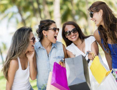 Women shopping in Chagrin Falls