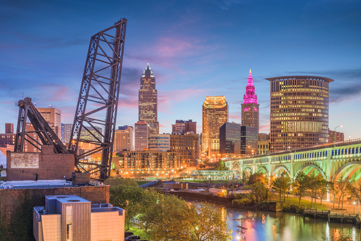 Cleveland Ohio USA Skyline