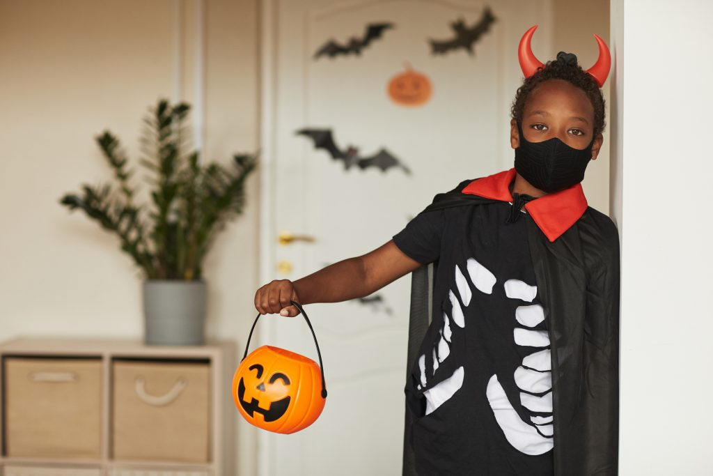 Boy Ready To Trick Or Treat