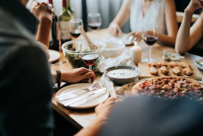 A Group of People Eating
