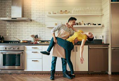 Cleveland ohio realtors Happy Couple in the Kitchen